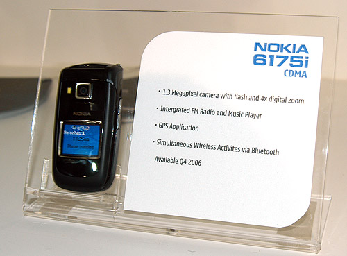 Another new clam-shell design from Nokia, the 6175i.