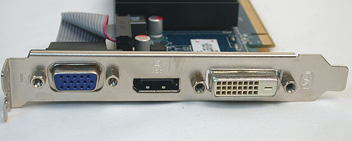 The low-end nature of this SKU means that VGA is still an option, along with DisplayPort and DVI.