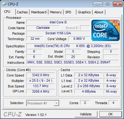 The Core i5-655K.