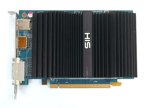A huge chunk of fins and cold metal make up the passive cooler on this HIS Radeon HD 6570 Silence.