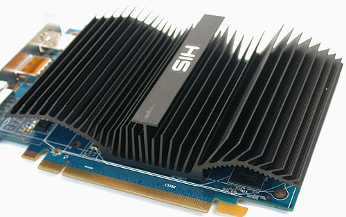 A closer look at the fins of the passive cooler.