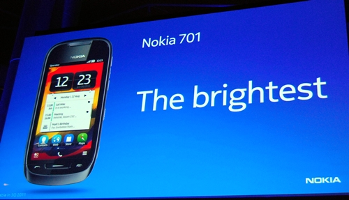 The main feature of Nokia 701 is its display, which Nokia claims is the brightest ever on a smartphone.