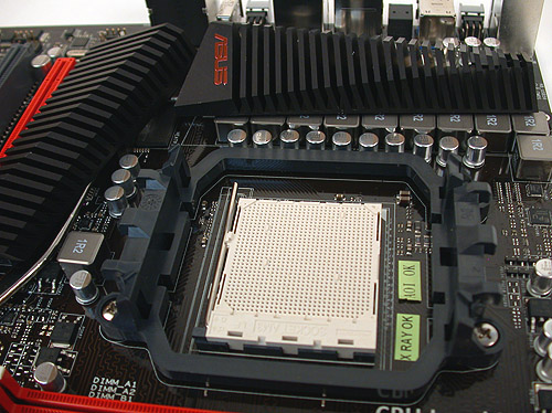 ASUS certainly has quite a fancy and visually arresting heatsink design which is also reasonably low-profile.