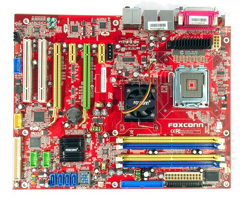 The Foxconn 975X7AB-8EKRS2H motherboard.