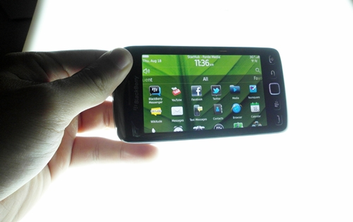 During our hands-on at the event, the accelerometer of the BlackBerry Torch 9860 had difficulties adjusting to the orientation of the device. We do hope that RIM could iron out this issue before it is commercially available.