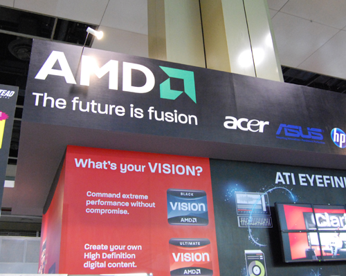 For the very first time ever, AMD puts up a booth at an IT fair to showcases a variety of notebooks powered by its AMD Phenom II, Turion II and Neo series of processors. Situated at Level 4, it's certainly a big hurrah for AMD fans!