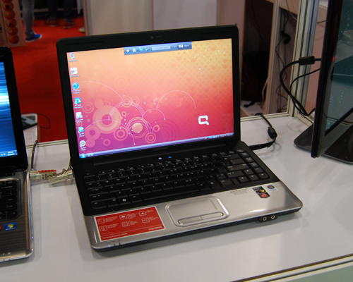 Traditionally, Compaq notebooks have been one of the more affordable range. At the AMD booth, we saw the Compaq Presario CQ40, which comes with an AMD Turio Ultra ZM85 (2.3GHz) processor, 4GB RAM, 320GB HDD and a 14-inch screen. All that, for $1,099.