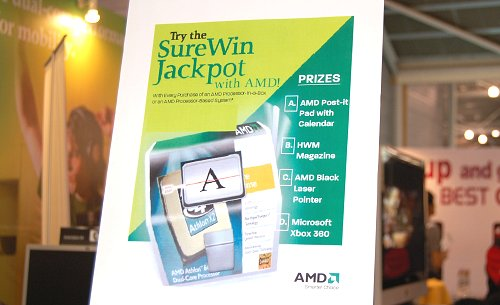Lucky draw chances of bagging yourself an XBOX 360 for purchase of AMD boxed processors during the show.