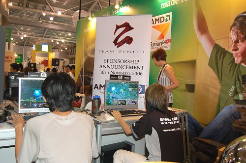 Team Zenith was on site to show off their skills in DOTA.
