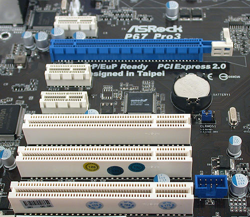 Even though most consumers are likely to stick with a single graphics card, those who are buying a P67 board may prefer the option of a second graphics card, an option that's surprisingly missing on this ASRock board.