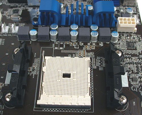 The new Socket FM1 from AMD uses the same mounting mechanism for the heatsink/fan as current AMD processors, so it's not much of a change from the end-user point of view.