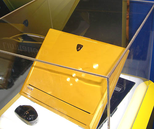 Another famous sports car brand makes its presence in IT products, with ASUS tying up with Lamborghini's design expertise for this stunning yellow notebook. The specifications for it may be mundane but it certainly looks a million.