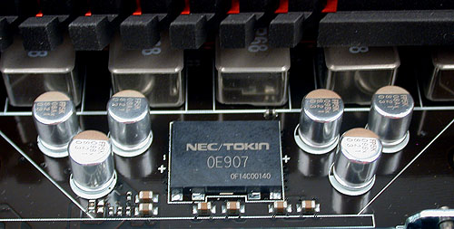 This NEC/Tokin chip is apparently known as a Proadlizer which helps to deliver stable power to the processor due to its extremely low noise.