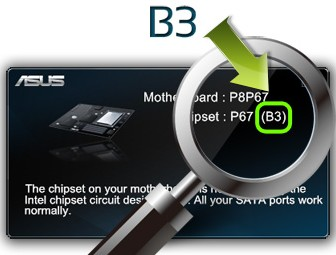 ASUS SATA Verifier shows detected chipset stepping as B3.