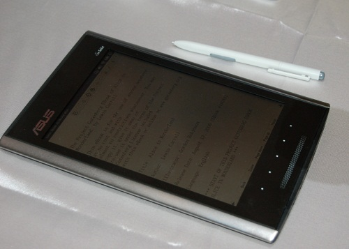 The Eee Tablet is a more unique beast and looks to fit the definition of a note'pad' better than the other 'Pads' we have seen.