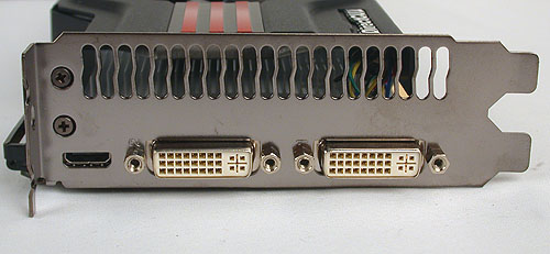 The standard dual-slot design with two DVI outputs and a mini-HDMI.