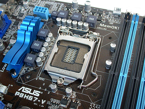 This small heatsink is all you need. It's a mainstream motherboard after all.
