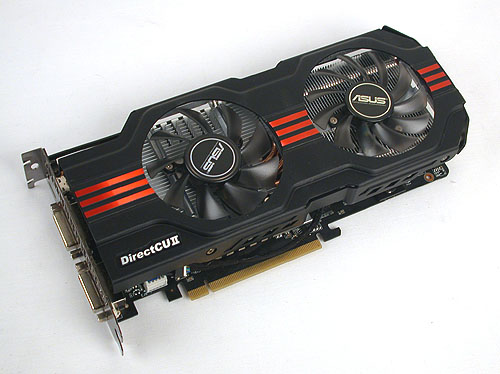 The GeForce GTX 560 gets the DirectCU II treatment from ASUS. With its huge, dual-fan cooler to support its overclocked frequencies, we expect a speedy and cool performance.