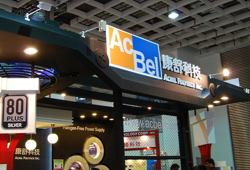 AcBel had its whole range of power supply units and adapters at its booth, most of which were 80 PLUS certified.