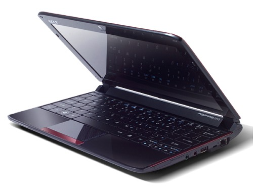 Acer's new Aspire One 532G is configured with an Intel Atom N450 and the NVIDIA Ion with 512MB of frame buffer. It has the same 10.1-inch screen with a 720p resolution support along with a multi-touch touchpad, multi card reader and Windows Home Premium.