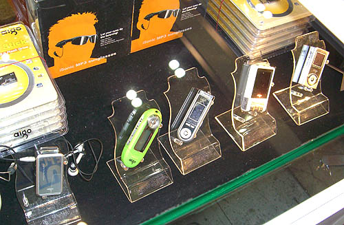 Aigo had a decent range of MP3 & MP4 players at the show. If you purchase any of these players at the show, you can also top up $10 - $30 to get Aigo's external speakers tp go along.