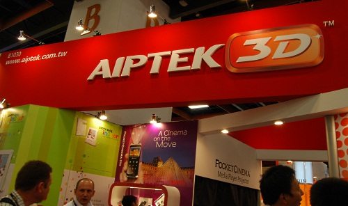 It was all about 3D at Aiptek's booth, which has products ranging from pico projectors to photo frames and camcorders.