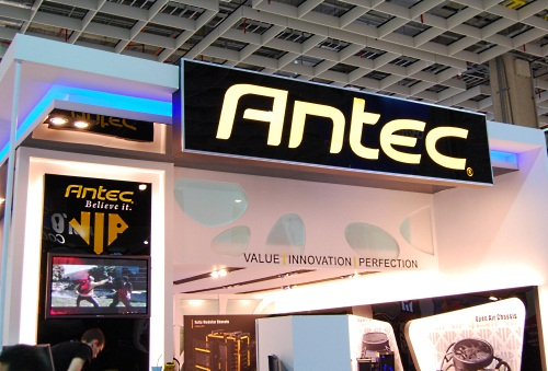 Antec showed off its wide range of chassis and power supply units.