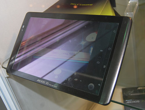 The Archos 101 internet tablet is hardly new though it runs on Android 2.2, with a 1024 x 600 capacitive, multi-touch display. It uses an ARM 1GHz processor but its main advantage is its 480g weight.