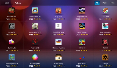 There is a handful of game apps available for you to download but don't have high hopes on finding some popular games like Angry Birds or Plants VS Zombies among the list.
