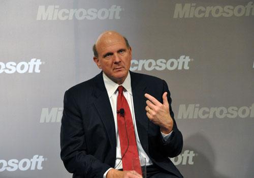 Steve Ballmer, CEO of Microsoft.