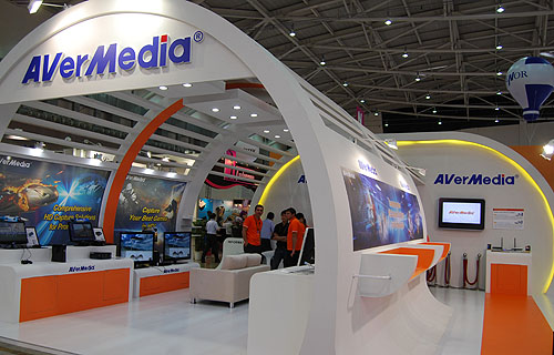 AVerMedia's booth is all about devices for capturing, watching and streaming media and content.