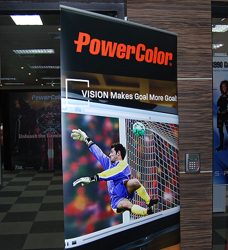 PowerColor had a meeting room to showcase its products instead of an elaborate booth. Substance over style we say.