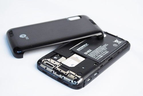 A bit of prying at the bottom is required to get the cover off. Inside, you will find the usual battery, SIM card and micro SD card compartments.