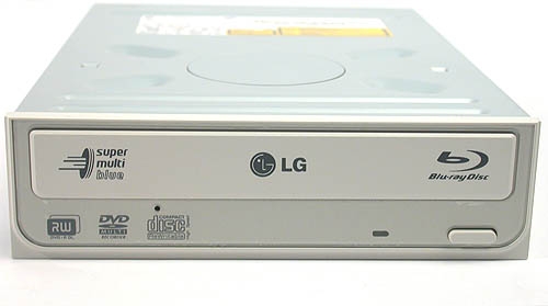 The addition of a Blu-ray logo assures us that it's the real thing. Unlike some of the early Blu-ray burners, the LG is as versatile as its 'Super Multi' tag suggests. Even DVD-RAM is supported.