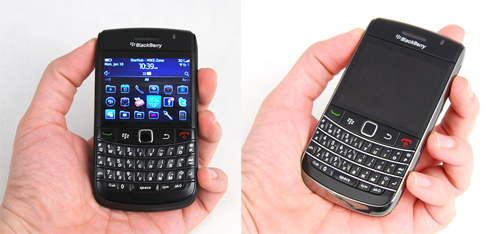 Nothing much has changed for the Bold 9780. Same size, same keyboard. The only discernible difference is its black borders, unlike the Bold 9700's glossy and shiny choice.