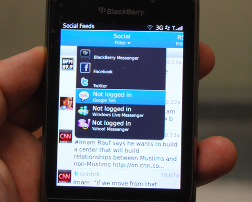 Social Feed gives you a consolidated timeline of all your social network activities, making it easy to read and follow updates through the day.