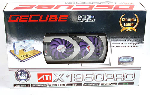 GeCube's unique take on the Radeon X1950 PRO - the awkwardly named GeCube FZ Cool Radeon X1950 PRO Champion Edition.