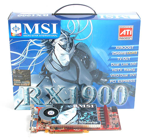 MSI has practically all graphics cards models from both ATI and NVIDIA. Here's its Radeon X1900 GT 256MB.
