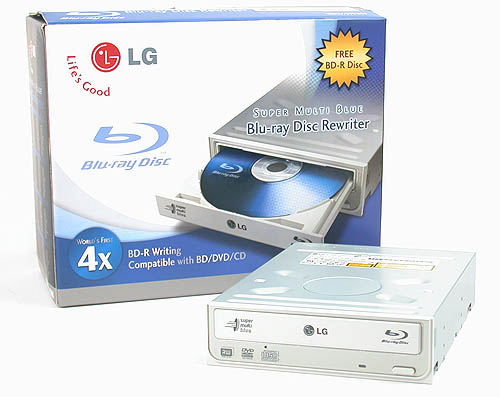 The fastest Blu-ray writer at the moment capable of burning BD-R discs at 4x - LG's GBW-H10N.