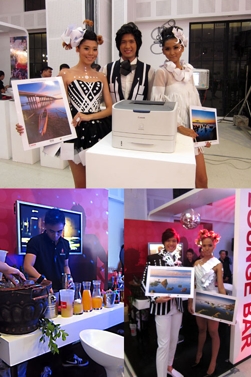 Aside from having the new Canon BIS solutions on display, the event also featured several booths, each designed so that guests could unwind by playing on a PlayStation Move setup, enjoying a massage, and having a cup of coffee and desserts or even some cocktails.