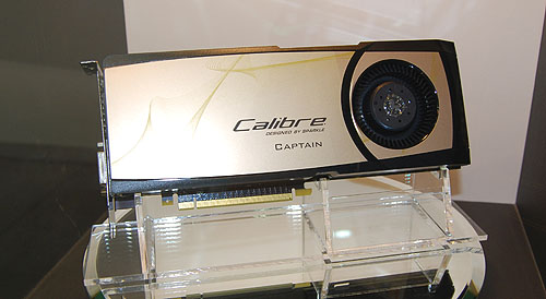 The world's first NVIDIA GeForce GTX 580 graphics card (or for that matter, any consumer NVIDIA card)  that can drive four monitors simultaneously - the Sparkle Calibre X580 Captain.