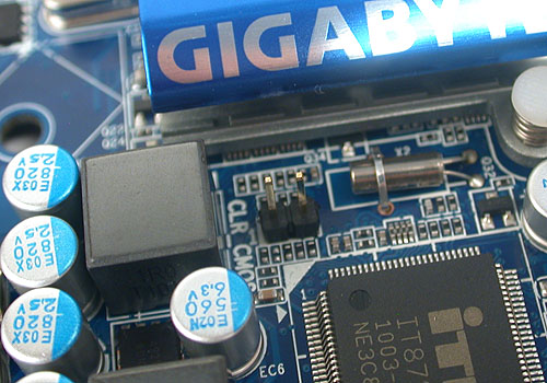 Shorting this two pins will clear the CMOS, so don't be poking around this board carelessly with your screwdriver.