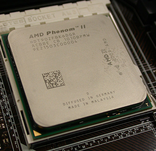 The AMD Phenom II X6 1090T Black Edition - the fastest six-core desktop processor from the company upon launch.