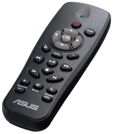 The remote feels quite spartan and light, with relatively few buttons. It also didn't feel particularly stable or sturdy in our hands.