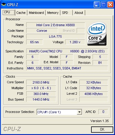 CPU-Z screenshot.