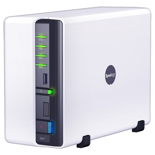 The Synology DIskStation DS211  is our best 2-bay NAS device.