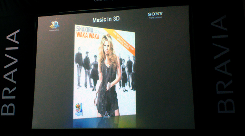 It would be awfully boring if 3D content is only generated for movie titles, wouldn't it? Using Shakira's recent performance at the 2010 World Cup shot in 3D as an instance, Sony promises more titles on the musical bandwagon for consumers to jive to in the months ahead.