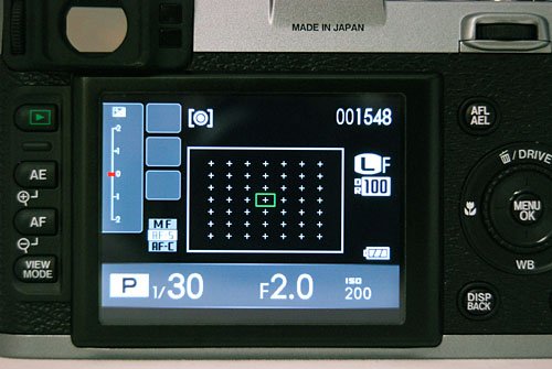The X100 has a whopping 49 selectable AF points, which feel like too many for a camera with such small controls.
