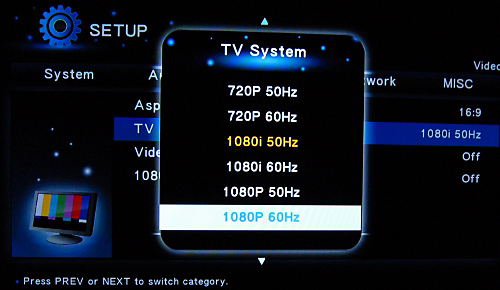 The flawed 1080p settings sits there just to taunt the user