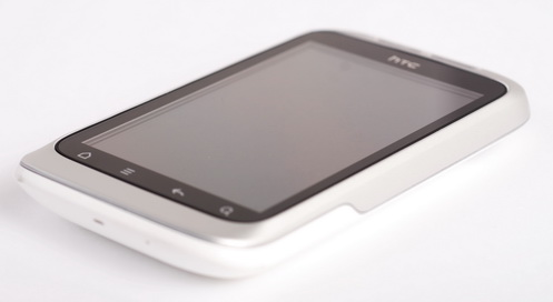 HTC has received awards for its clean, minimalist design, evident here in the Wildfire S.